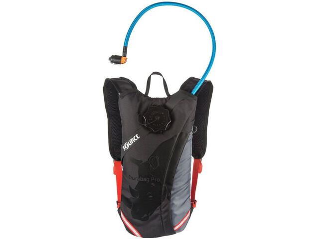 SOURCE Durabag Pro Pack Hidratación 2l, gris/negro